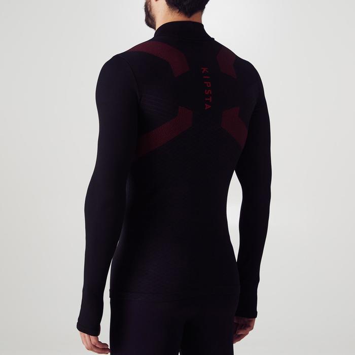 Camiseta térmica de fútbol manga larga adulto Keepdry 900 negro rojo
