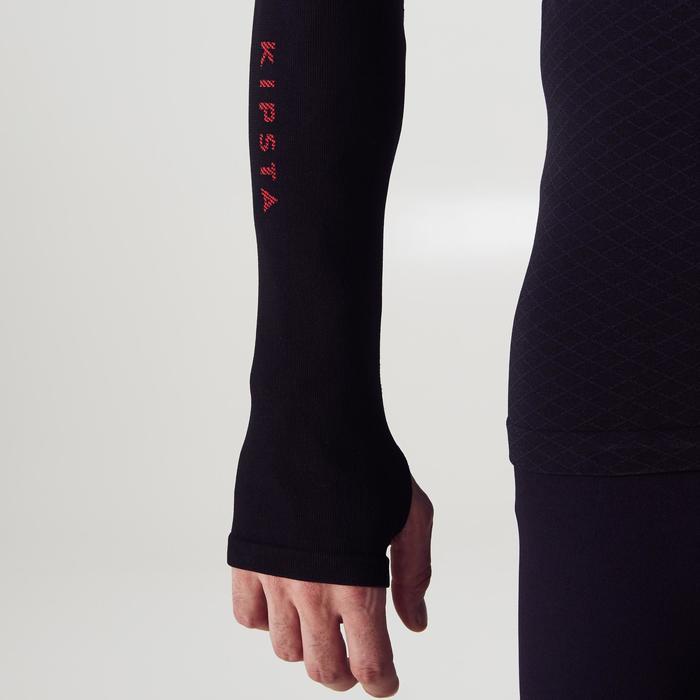Funktionsshirt lang Keepdry 900 atmungsaktiv Erwachsene schwarz/rot