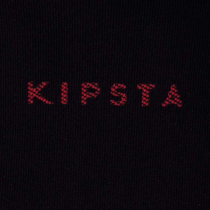 Camiseta Térmica Transpirable Manga Larga Kipsta KDRY900 Adulto Negro Rojo