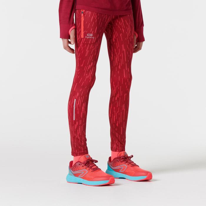 collant athlétisme enfant run dry imprimé rose