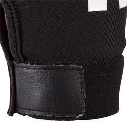 Rugby handschoenen zonder vingers Full H zwart/rood - 135462