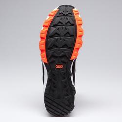 Hardloopschoenen voor kinderen grip grijs/zwart/fluo-oranje