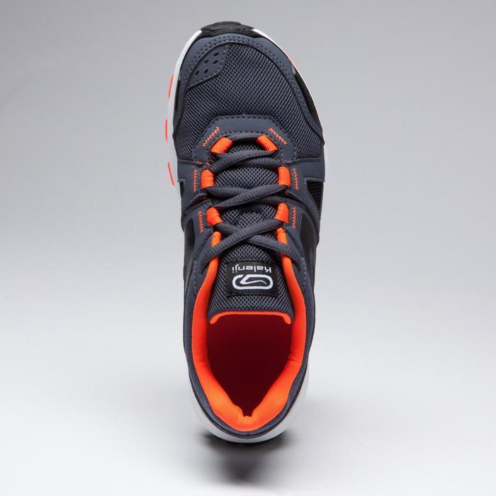 Zapatillas Atletismo Running Kalenji Kiprun Niños Azul Grisáceo/Rojo