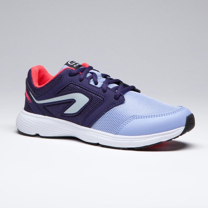 Laufschuhe Run Support Lace Leichtathletik Kinder lila/indigoblau