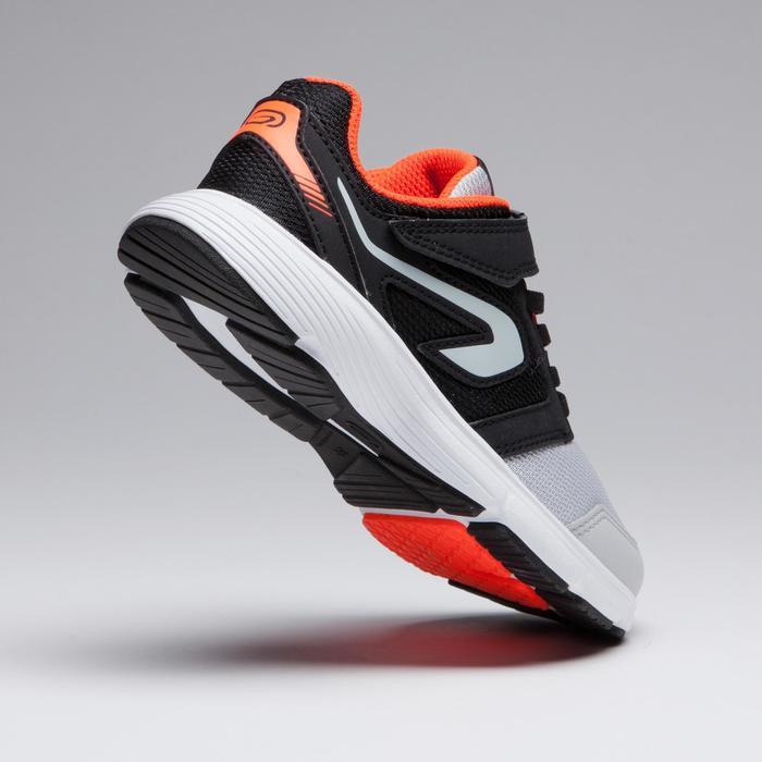 Zapatillas Atletismo Running Kalenji Run Support Niños Negro/Gris/Rojo