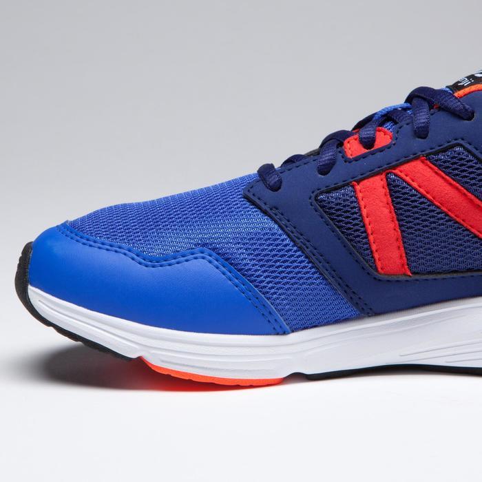 Zapatillas Atletismo Running Kalenji Run Support Cordones Niños Azul/Rojo/Fluo