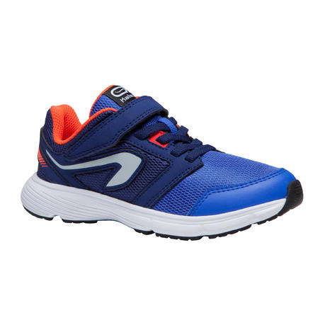 RUN SUPPORT RIP-TAB CHILDREN'S ATHLETICS SHOES - BLUE NEON RED