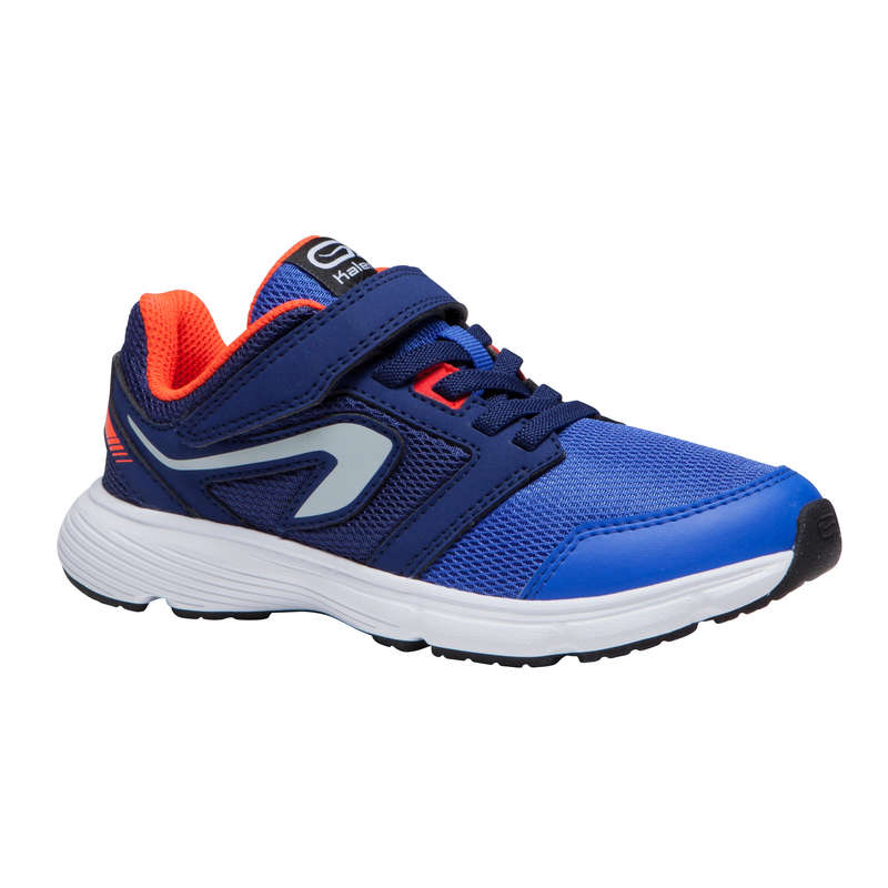 KIDS ATHLETICS SHOES Running - RUN SUPPORT BOY S BLUE RED KALENJI - Running Footwear
