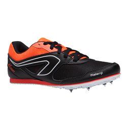 Zapatillas De Atletismo Kalenji Adultos y Niños Negras Naranja Con Clavos