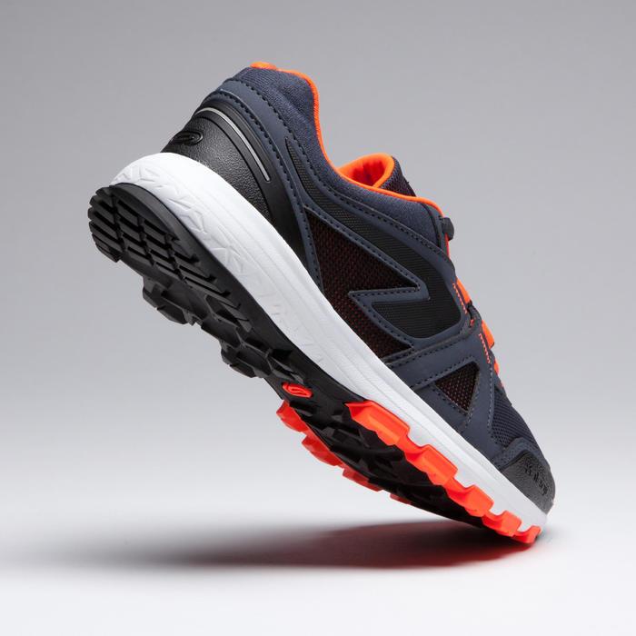 Giày chạy bộ Kiprun Grip cho trẻ em - Đen/Cam