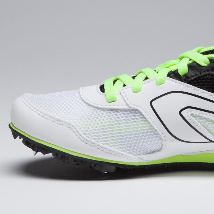 CHILDREN AND ADULTS MULTI-PURPOSE ATHLETICS SHOES WITH SPIKES WHITE YELLOW