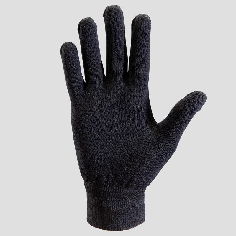 Seamless children's athletics gloves - black