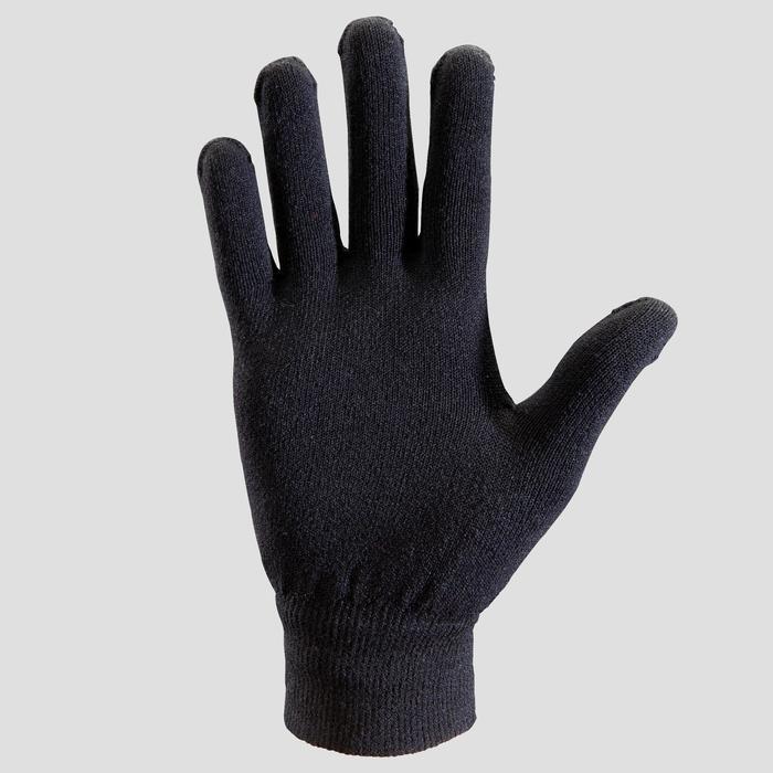 handschoen atletiek kinderen naadloos zwart