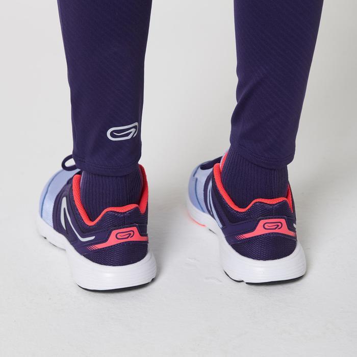 collant athlétisme enfant run dry imprimé violet