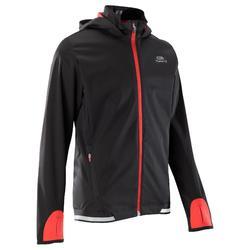 kiprun warm children's athletics jacket - black/red