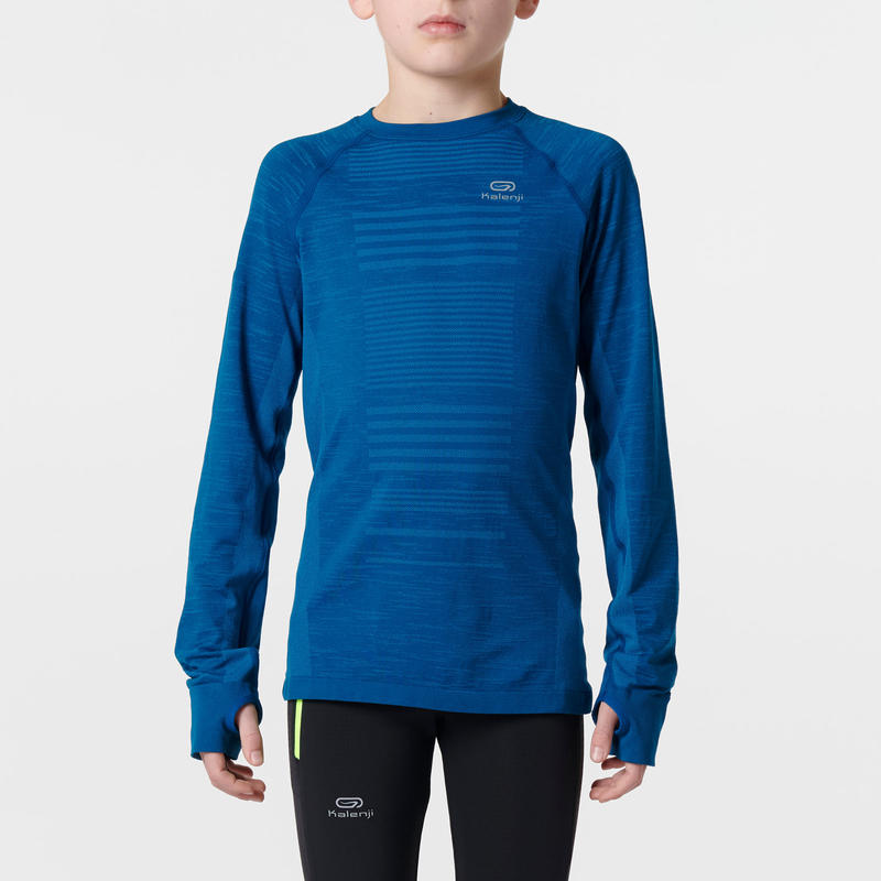 Skincare children's long-sleeved athletics T-shirt blue