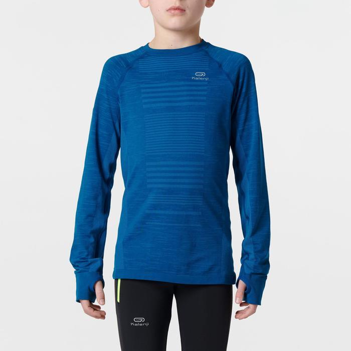 Camiseta de manga larga atletismo júnior skincare azul