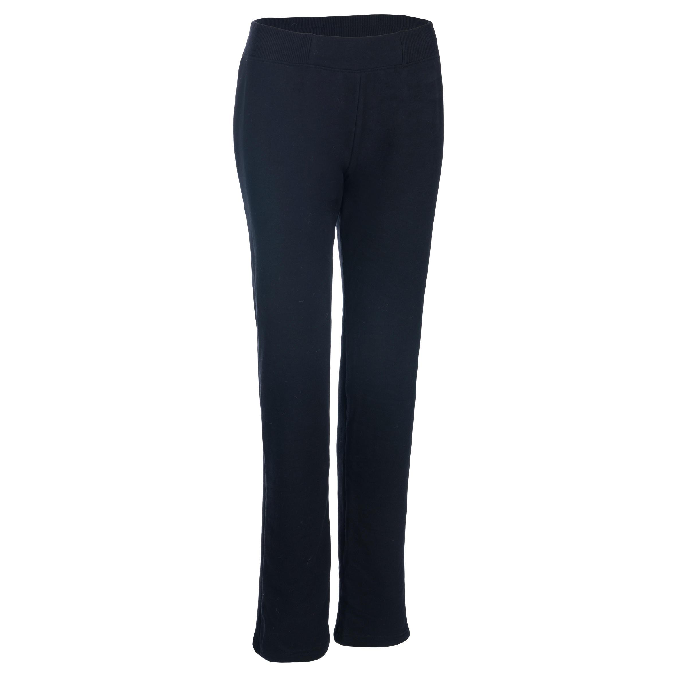 Pantalon 500 régulier Gym extensible femme noir