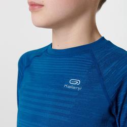Hardloopshirt kinderen met lange mouwen kinderen Skincare blauw