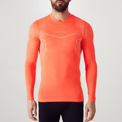 Thermoshirt Keepdry 500 met lange mouwen fluo-oranje
