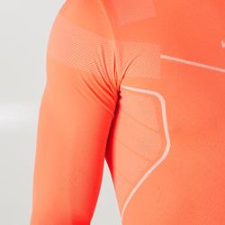 Keepdry 500 Adults' Soccer Long-Sleeved Base Layer - Neon Orange