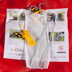 Voetbaldoeltje pop-up The Kage XL rood/wit - 135490