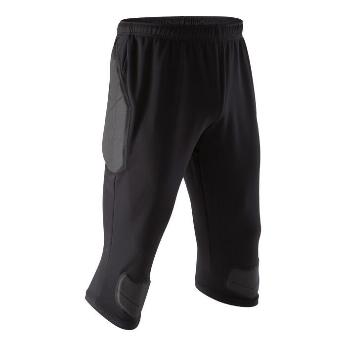 Pantalón Pirata Portero Fútbol Kipsta F100 Adulto Negro
