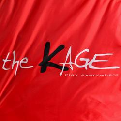 Voetbaldoeltje pop-up The Kage XL rood/wit - 135496