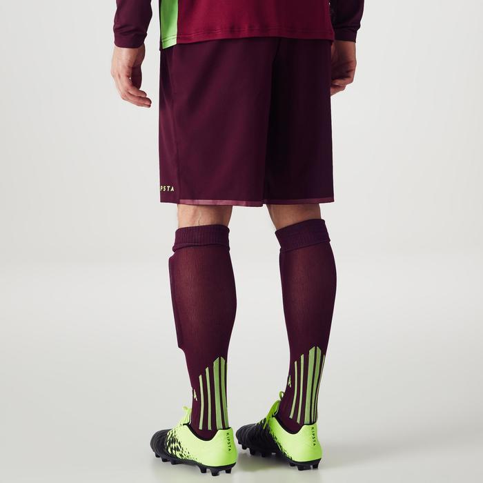 Pantalón Corto Portero Fútbol FGKS500 Adulto Morado