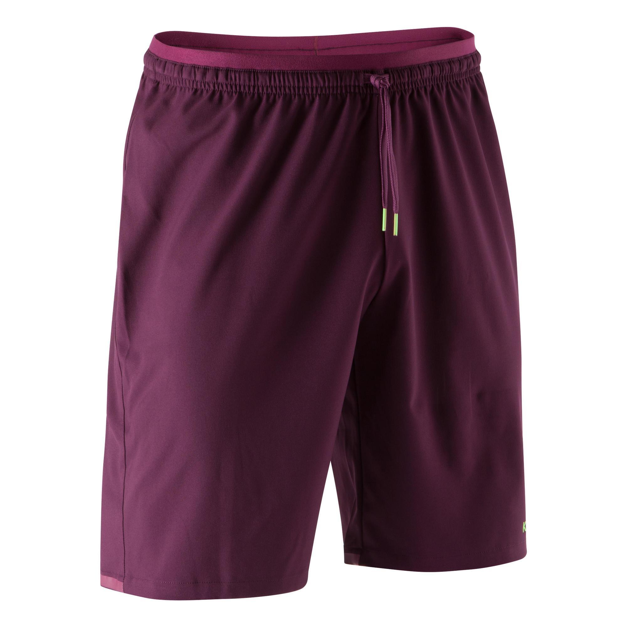Torwarthose kurz F500 Erwachsene violett | Sportbekleidung > Sporthosen > Fahrradhosen | Kipsta