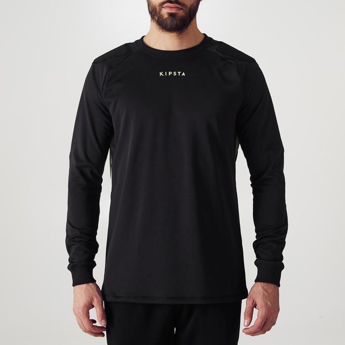 Keepersshirt voetbal volwassenen F100 zwart
