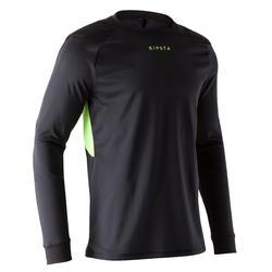 Camiseta de portero de fútbol adulto F100 negro
