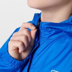 Windjack voor atletiek kinderen club personaliseerbaar blauw