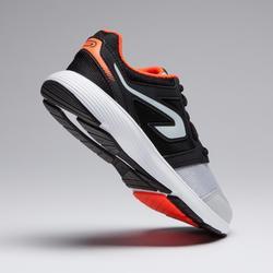 Zapatillas Atletismo Running Kalenji Run Support Cordones Niños Negro/Gris/Rojo