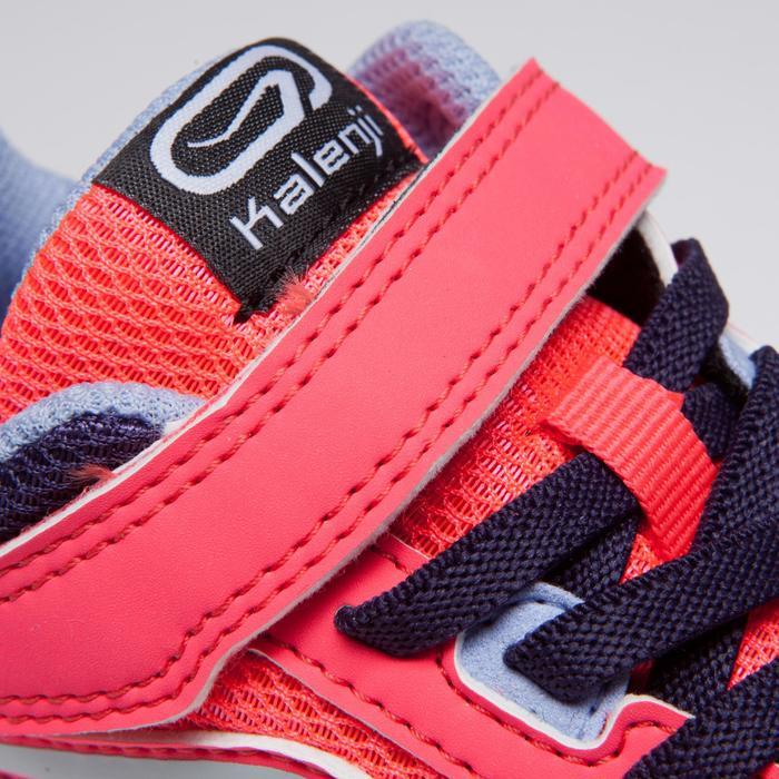 Atletiekschoenen voor kinderen Run Support klittenband roze zachtpaars paars