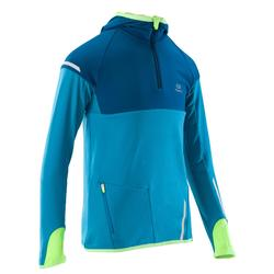 Kiprun children's long-sleeved athletics warm top - blue