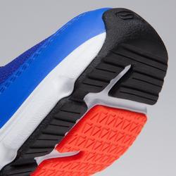 Hardloopschoenen kinderen Run Support klittenband blauw fluorood