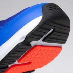 Hardloopschoenen kinderen Run Support veters blauw/fluorood