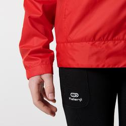Windjack voor atletiek kinderen club personaliseerbaar rood