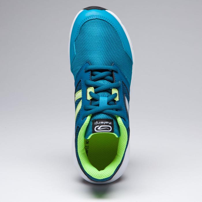 Laufschuhe Run Support Kinder blau/gelb