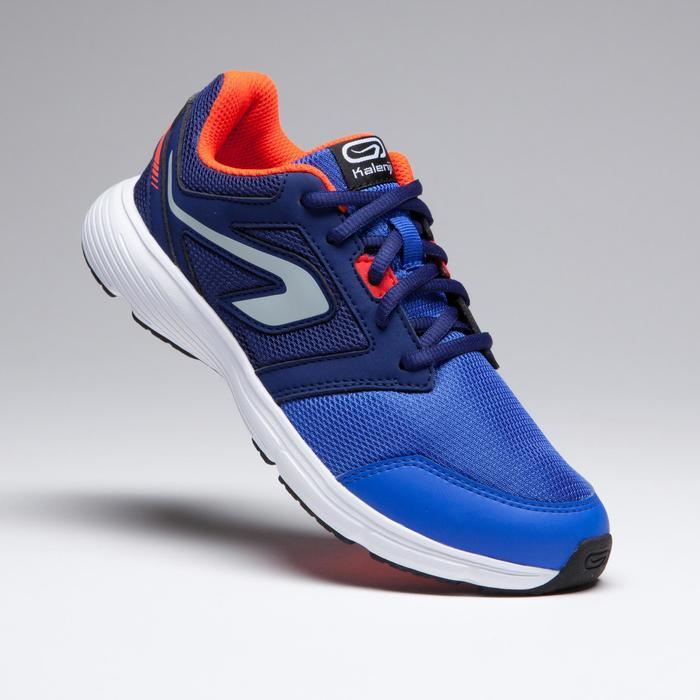 兒童款輔助田徑跑鞋(紅藍螢光鞋帶)