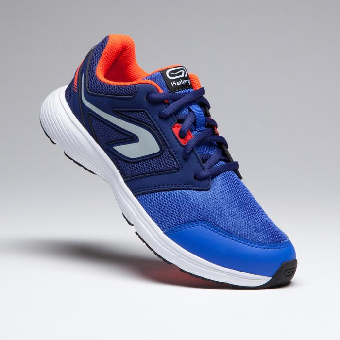 Atletiekschoenen kinderen Run Support veters blauw/fluorood