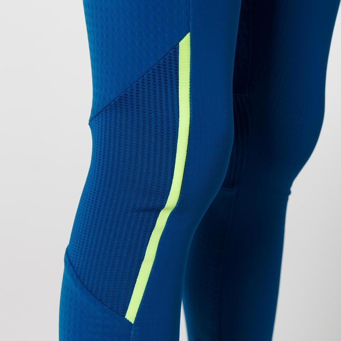 Mallas largas de atletismo para niños Kiprun azul amarillo fluo