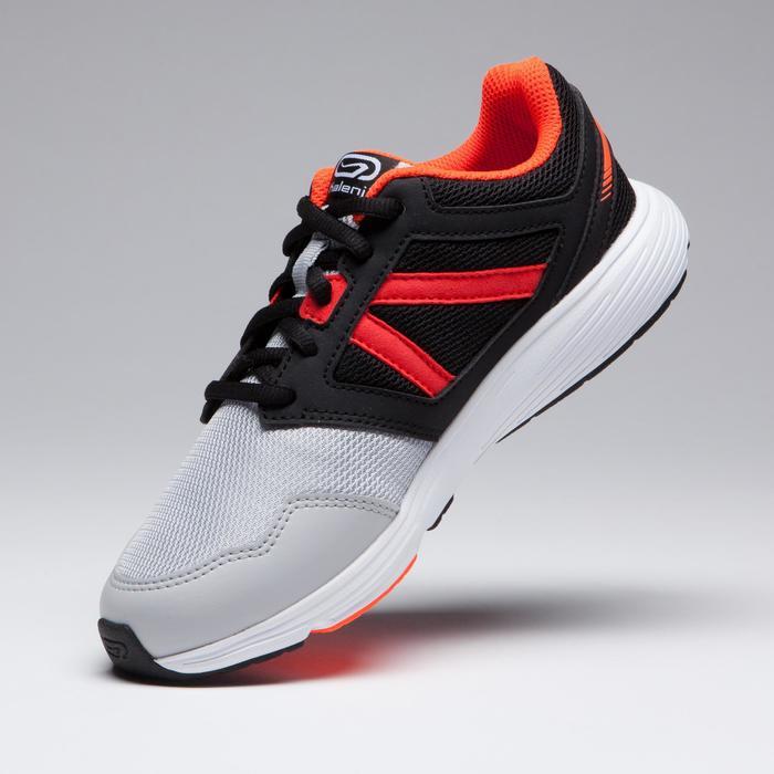 Laufschuhe Run Support Lace Leichtathletik Kinder schwarz/grau