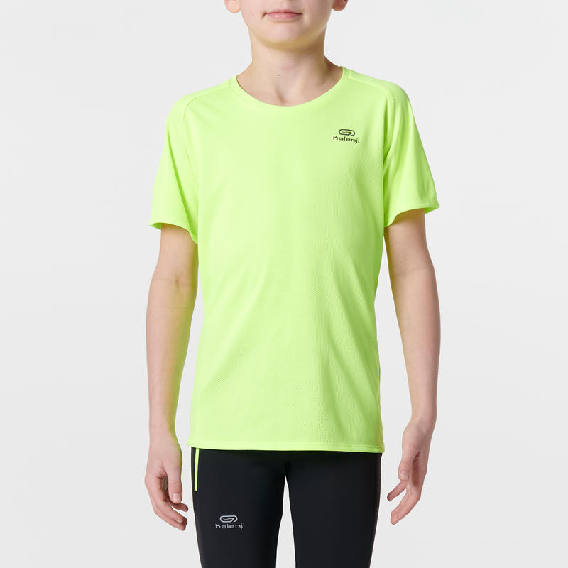 run dry children 39 s athletics t shirt acid fluo yellow. Black Bedroom Furniture Sets. Home Design Ideas