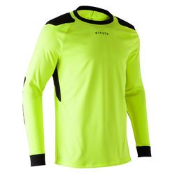 Camisola de Guarda-redes Futebol F100 Adulto Amarelo