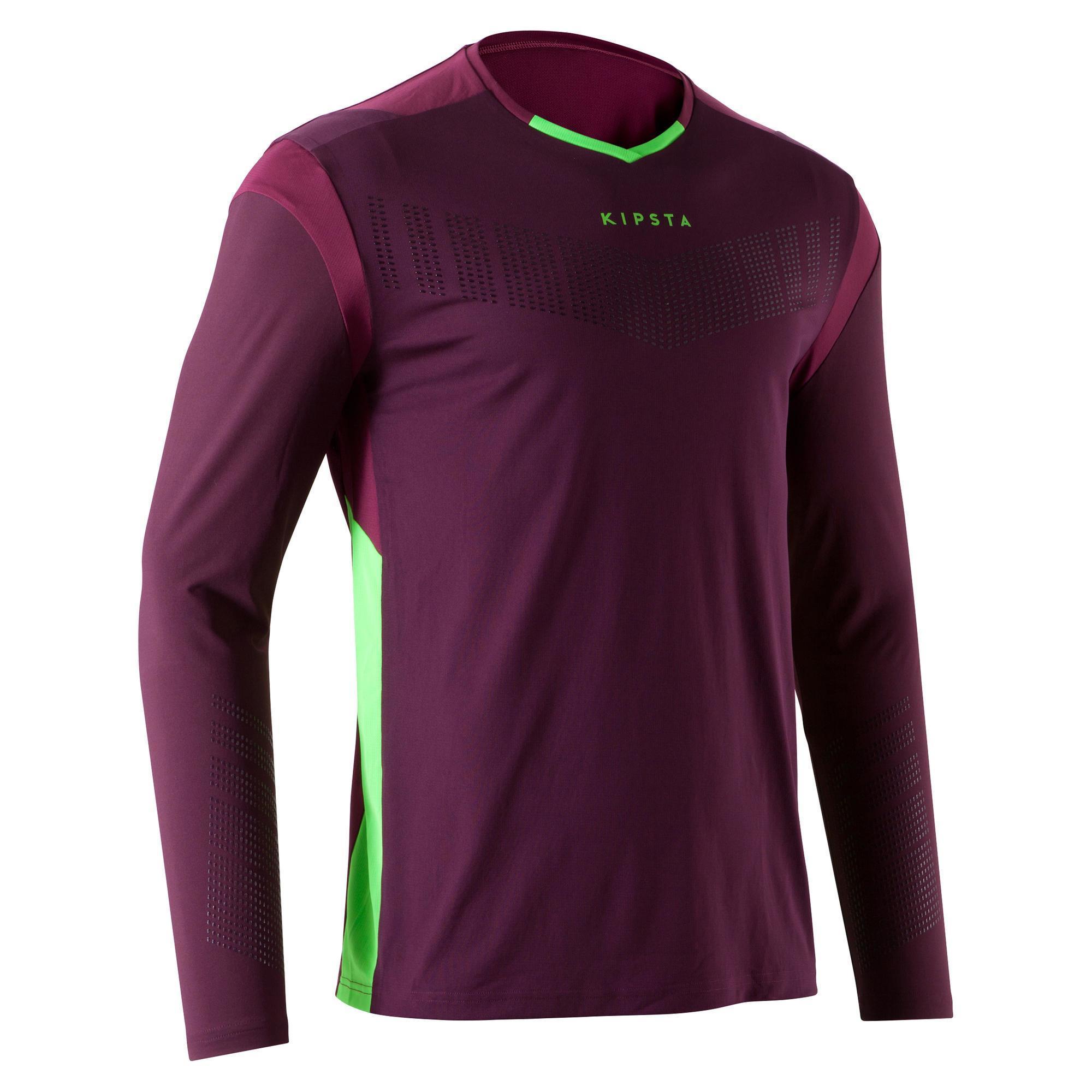 Kipsta Keepersshirt F500 voor volwassenen paars