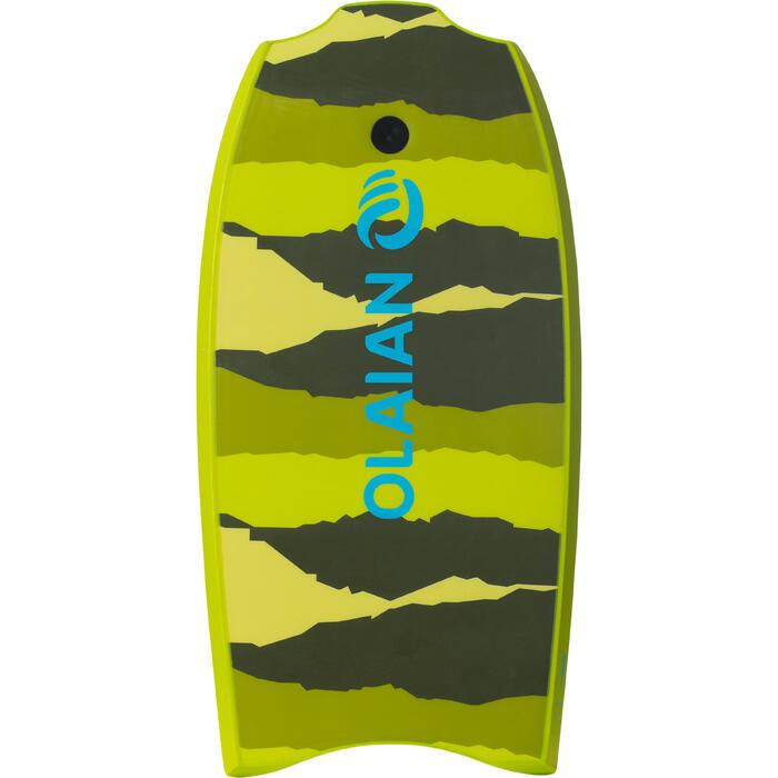 """Bodyboard 100 35"""" Kinder 6–12 mit Slick (Gleitfläche) & Leash grün"""