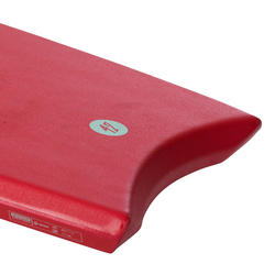 "BODYBOARD 100 red 1.65m-1.85m 42"" with glide slick and leash"