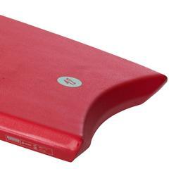 "BODYBOARD 100 rojo 1,65m - 1,85m 42"" con fondo deslizante y leash"